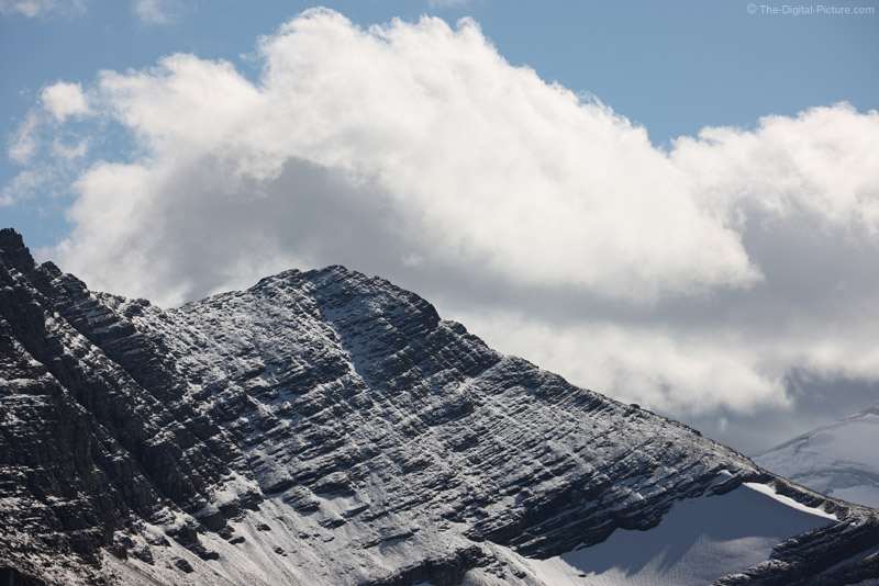 Snow on Reynolds Mountain, Glacier National Park