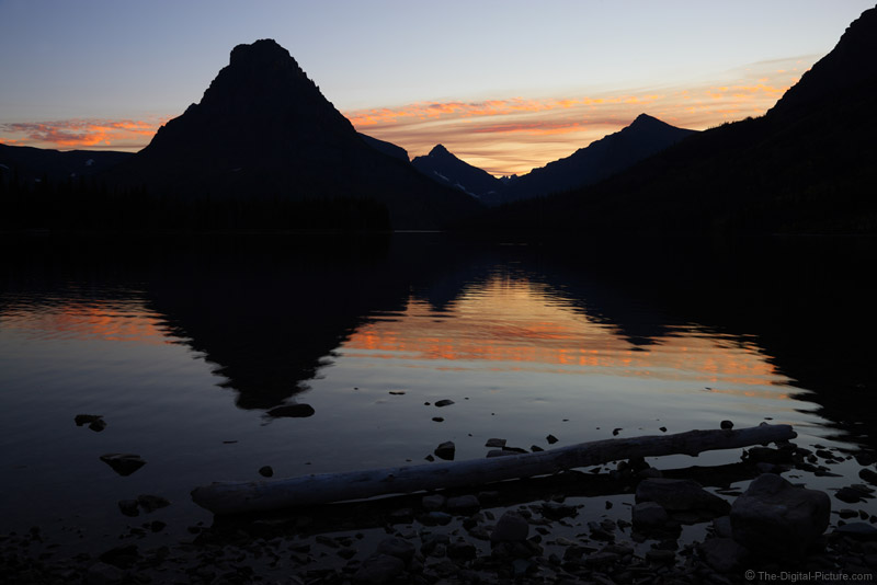 Sunset over Two Medicine Lake, Glacier National Park