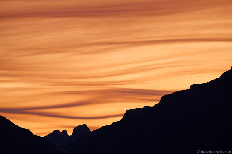 Two Medicine Telephoto Sunset