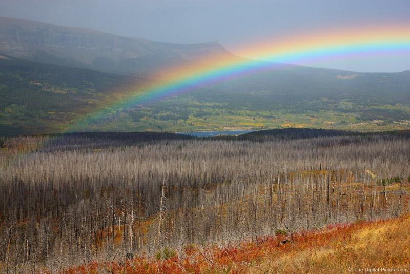 Rainbow Over St Mary, Montana