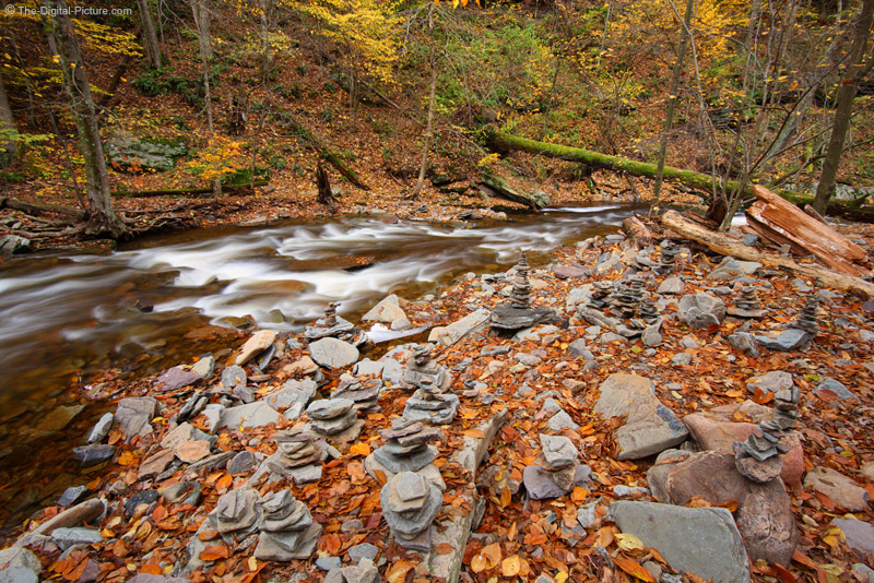 Little Piles of Rocks Beside Kitchen Creek