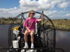 Air Boat Pilot at the Controls