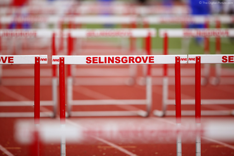 Red and White Hurdles