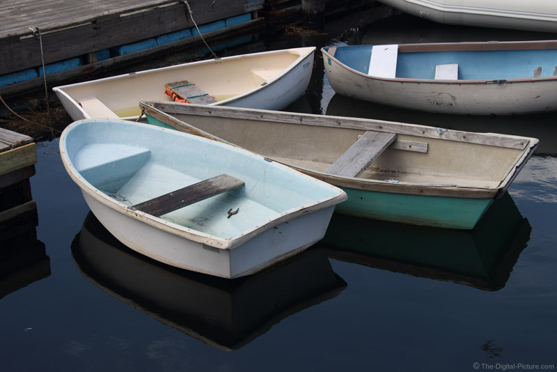 Docked Dinghies, Cape Porpoise, ME