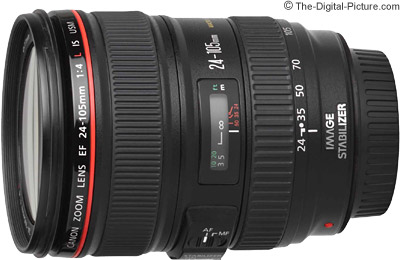 Refurb. Canon EF 24-105mm f/4L IS USM for $530.78 and Misc. Refurb. DSLRs on Sale