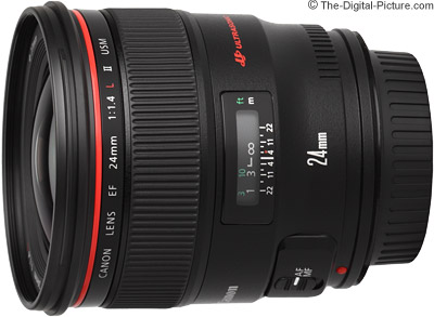 Canon EF 24mm f/1.4 L II USM Lens Comparisons