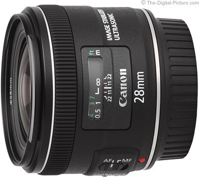 Canon EF 28mm f 2.8 IS USM Lens