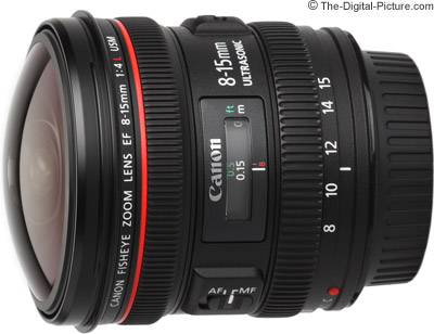 Canon EF 8-15mm f/4L USM Fisheye Lens Image Quality Comparison