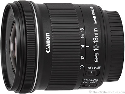 Refurbished Canon EF-S 10-18mm f/4.5-5.6 IS STM Lens - $249.95 Shipped (Compare at $299.00 New)