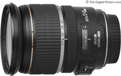 Canon EF-S 17-55mm f/2.8 IS USM Lens Compared to Other Lenses