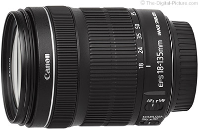 Canon EF-S 18-135mm f/3.5-5.6 IS STM (White Box) - $284.00 (Compare at $549.00)