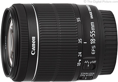Canon EF-S 18-55mm f/3.5-5.6 IS STM Lens Focal Length Comparisons