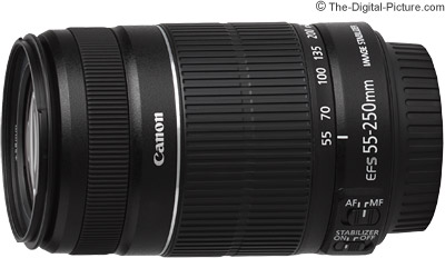 Canon EF-S 55-250mm f/4-5.6 IS II Lens (White Box) - $149.00 Shipped (Compare at $199.00 Retail)