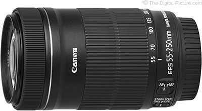 Live Again: Refurb. Canon EF-S 55-250mm IS STM Lens - $129.99 with Free Shipping (Compare at $299.00 New)
