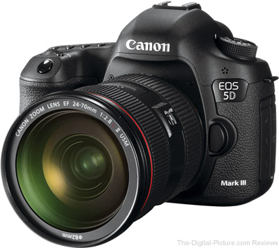 Live Again: Canon EOS 5D III for $1,899.00 or 5D III + 24-105L for $2,499.00
