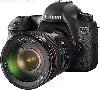 Canon EOS 6D DSLR Camera and EF 24-105mm f/4L IS USM lens