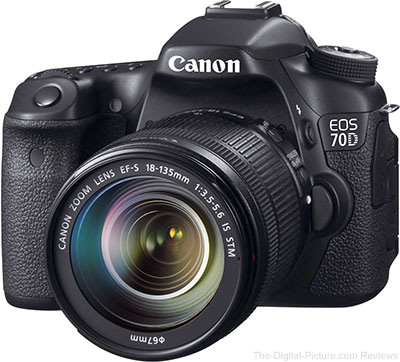 Excellent Deals: Refurbished Canon EOS 70D for $649.99 with Free Shipping (Reg. $959.20)