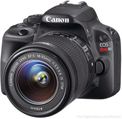 Refurb. Canon EOS Rebel SL1 + EF-S 18-55 IS STM Lens - $299.00 (Compare at $499.00 New)