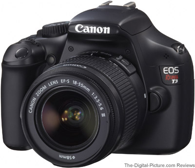Refurbished Canon EOS Rebel T3 with EF-S 18-55mm IS II Lens - $233.99 (Reg. $359.99)