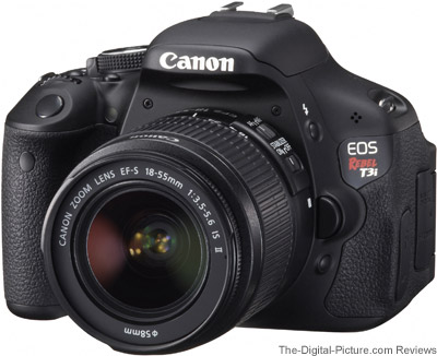 Canon EOS Rebel T3i with EF-S 18-55mm IS II Lens