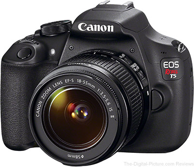 Refurb. Canon EOS Rebel T5 with EF-S 18-55mm IS II Lens - $299.99 (Compare at $399.00)