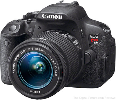 Canon EOS Rebel T5i DSLR with EF-S 18-55mm IS STM Lens - $568.12 Shipped (Compare at $699.00)