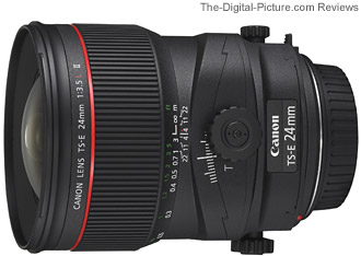 Canon TS-E 24mm f/3.5L II Tilt-Shift Lens ISO Noise Comparison
