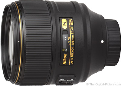 Standard Test Results for the Nikon 105mm f/1.4E ED AF-S Lens