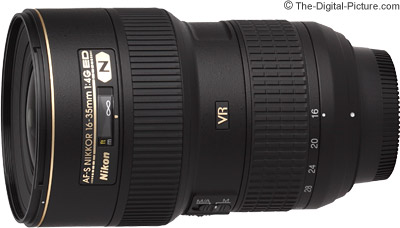 Nikon AF-S 16-35mm f/4G ED VR Lens - $899.00 (Compare at $1,096.95)