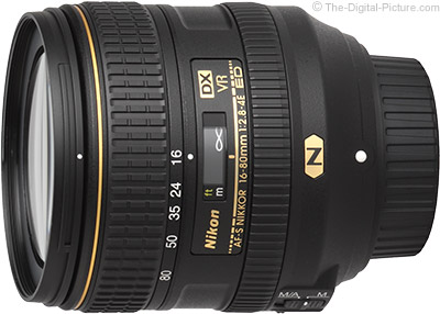 Standard Test Results for the Nikon 16-80mm f/2.8-4E AF-S DX VR Lens