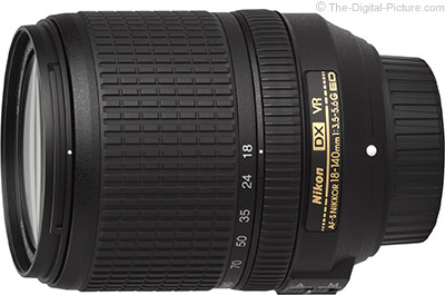Nikon AF-S NIKKOR 18-140mm f/3.5-5.6G DX ED VR Lens (White Box) - $264.00 (Compare at $496.95)