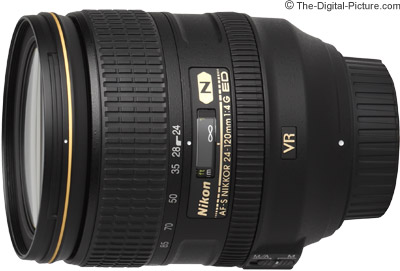 Nikon AF-S NIKKOR 24-120mm f/4G ED VR (White Box) - $639.00 (Compare at $1,296.95)