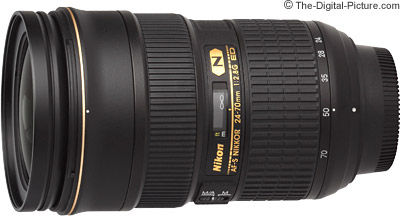 Nikon 24-70mm f/2.8G ED AF-S Nikkor Lens Refurbished - $1,466.88 (Compare at $1,886.95)