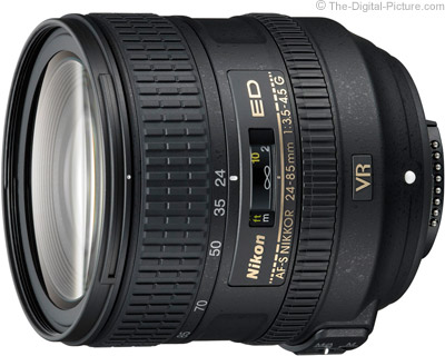 Nikon 24-85mm f/3.5-4.5G ED AF-S VR Nikkor Lens Press Release