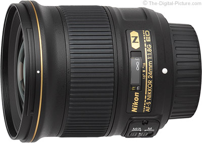Standard Test Results for the Nikon 24mm f/1.8G AF-S Lens