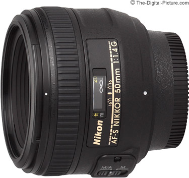 Nikon 50mm f/1.4G AF-S Nikkor Lens - $349.99 (Compare at $439.00)