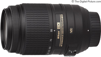 Nikon AF-S NIKKOR 55-300mm f/4.5-5.6G ED VR Lens - $247.00 (Compare at $396.95)