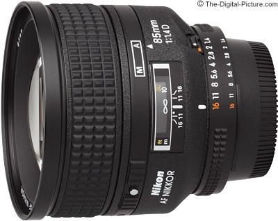 Nikon 85mm f/1.4D AF IF Lens