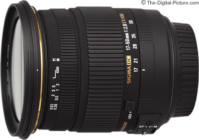 Sigma 17-50mm f/2.8 EX DC OS HSM Lens - $299.00 Shipped (Compare at $419.00)