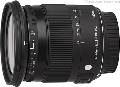 Sigma 17-70mm f/2.8-4 DC Macro OS HSM - $344.00 (Compare at $399.00)