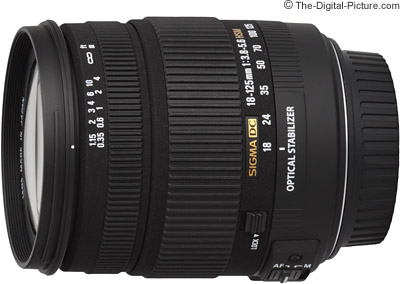 Sigma 18-125mm f/3.8-5.6 DC OS HSM Lens Review