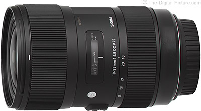 Sigma 18-35mm f/1.8 DC HSM Art Lens - $715.00 (Compare at $799.00)