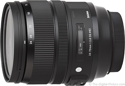 Sigma 24-70mm f/2.8 DG OS HSM Art Lens for Canon In Stock at Adorama