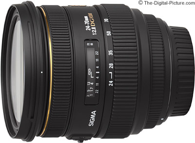 Sigma 24-70mm f/2.8 EX DG HSM Lens - $714.00 (Compare at $799.00)