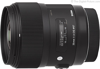 Save $100.00 on the 18-35, 35 & 50mm Sigma Art-series Lenses