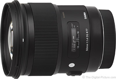 Sigma 50mm f/1.4 DG HSM Art Lens - $739.00 (Compare at $949.00)