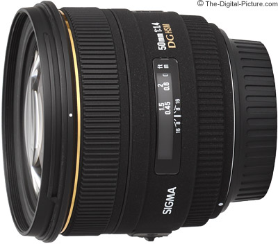 Sigma 50mm F1.4 EX DG HSM Lens - $349.00 with Free Shipping (Compare at $399.00)