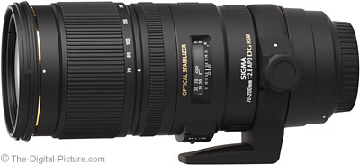 Sigma 70-200mm f/2.8 EX DG OS HSM Lens - $979.00 (Compare at $1,199.00)