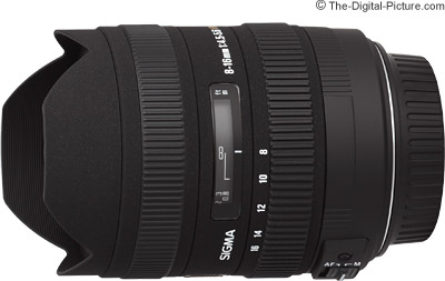 Sigma 8-16mm f/4.5-5.6 DC HSM Lens Product Image Comparison