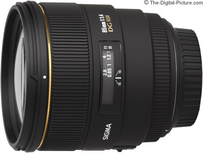 Sigma 85mm f/1.4 EX DG HSM Lens On Camera Comparison